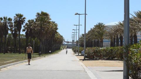 Industrial Pedestrian Alley Footage
