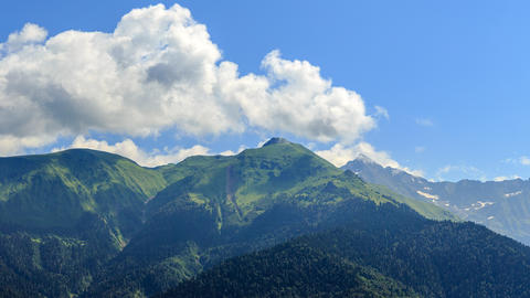 Clouds over the mountains. TimeLapse. HDR. Sochi, Russia Footage