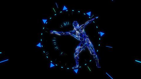 Neon Dance 4K 01 Vj Loop Animation