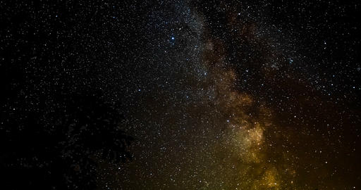 Milky Way Time Lapse - Starry Night Footage