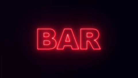 Night neon sign bar. bar neon text Live Action