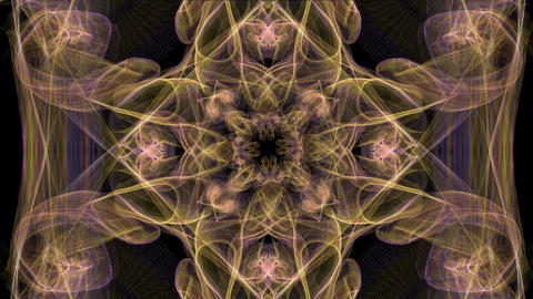 Luxurious abstract golden smoke patterns with rotating area in center, unusual Animation
