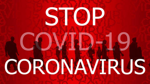 Concept message - people stay home to stop COVID-19 Videos animados