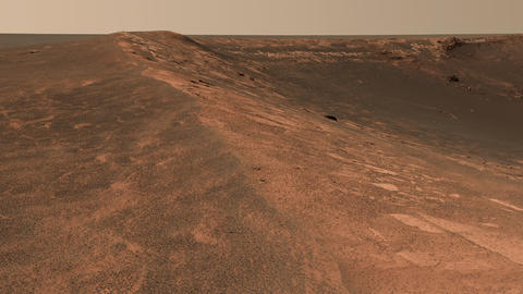 Mars surface panorama in high resolution. Elements of this video furnished by Live Action