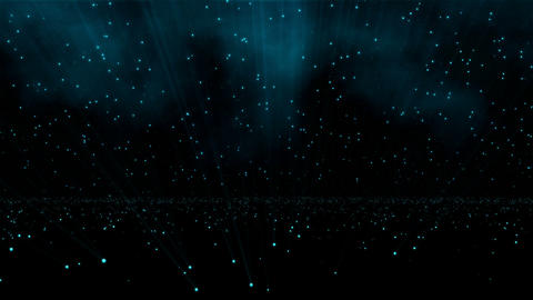 Sparkling Particles Field Animation
