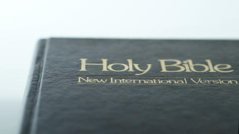 Close up of bible cover dolly shot GIF