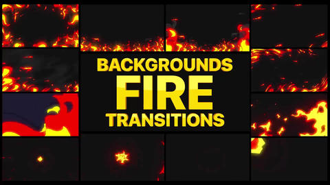 Fire Backgrounds And Transitions | After Effects After Effects Template