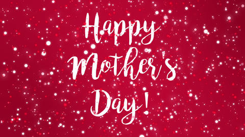 Animated red Happy Mother's Day greeting card Animation
