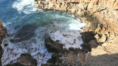 Popular natural object called L'olla, Calvia, Mallorca island. Circle small bay known Cal d'en Monjo Live Action