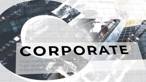 Corporate Clean Letters Slideshow Premiere Pro Template