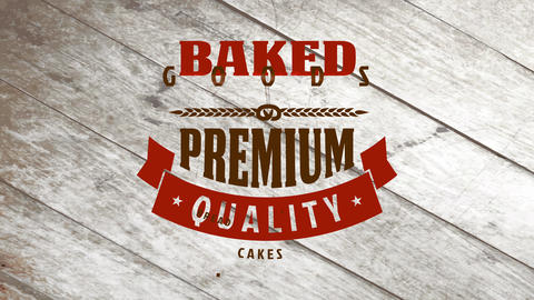 baked goods bakehouse products design built with several antique type typography alternating color Animation