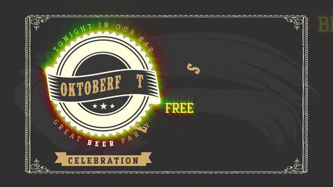 great big octoberfest party invitation design from beer pub bar using vintage typography and celtic Animation