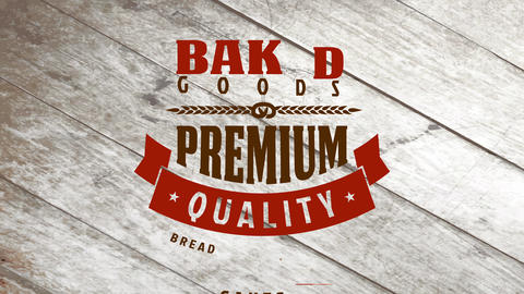 baked goods bakery products design made with various vintage font typography alternating color and Animation