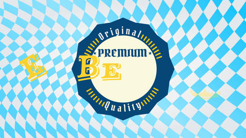 premium quality craft brewery beer design with a wavy pointy round seal like graphic with vintage Animation