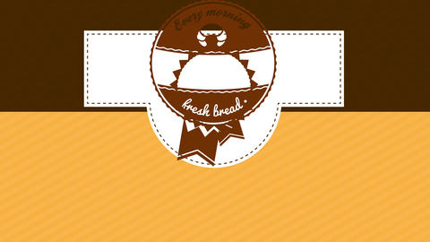 fresh bread bakery packaging design composed with a winners medal illustration with vintage text and Animation