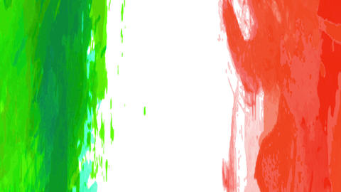 animated mexican flag creating original conceptual art designed with waterfall effect movement with Animation