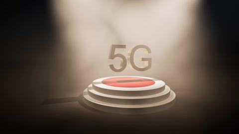 Modern abstract 5g stage podium for concept design. Futuristic abstract Live Action