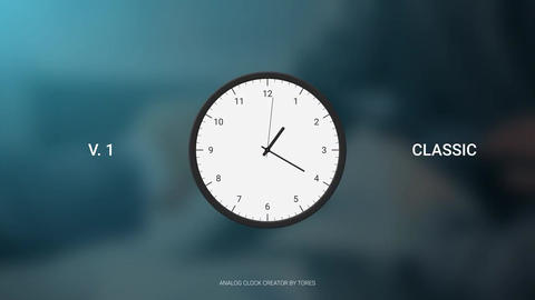 Analog Clock Creator Motion Graphics Template