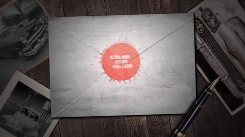 Mail Card Logo Stamp After Effects Template
