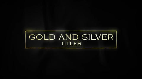 Luxury Titles Gold & Silver Motion Graphics Template
