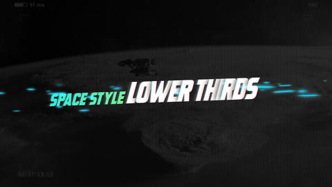 Lower Thirds Space Motion Graphics Template