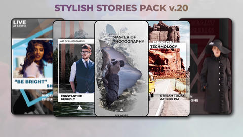 Stylish Stories Pack v 20 After Effectsテンプレート