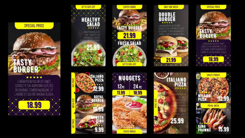 Delivery Food – Online Restaurant Promo After Effects Template