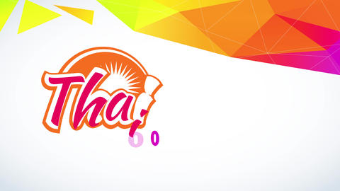thai nourishment design with trendy and fun offset with shiny graphical ribbon and an abstraction Animation