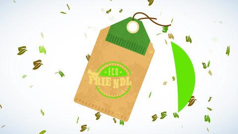 eco kind nourishment design composed with suspended recycled cardboard certified with curve speckled Animation