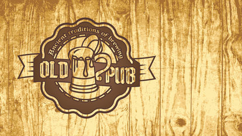 ancient infusion tradition pub design with elderly refined celtic styled offset on round graphic Animation