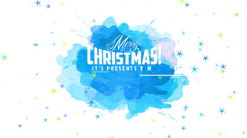 cheerful merry christmas and happy new year design with text written with many white fonts over Animation