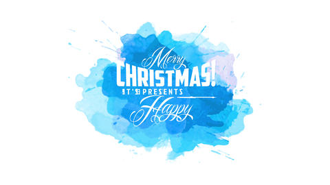 cheerful merry xmas and cheerful new year design with script written with many white script over Animation