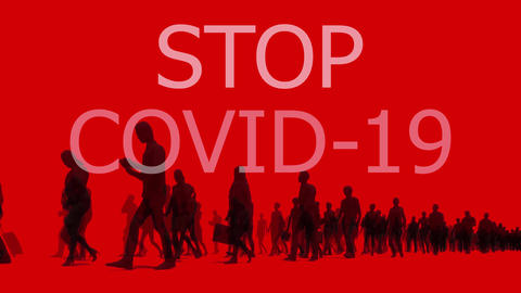 Stay home to stop COVID-19 conceptual text animation Videos animados