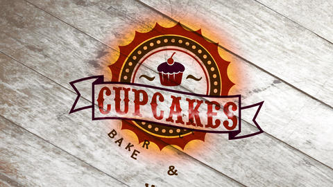 bakery and cafe tavern design with tempting cupcake image interior old makeup circular graphics with Animation