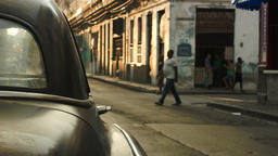 Moment of everyday life in old Havana Footage