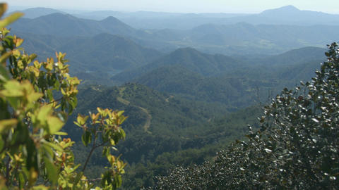 Amazing mountain landscape, horizontal panorama of green hills, beautiful nature Footage