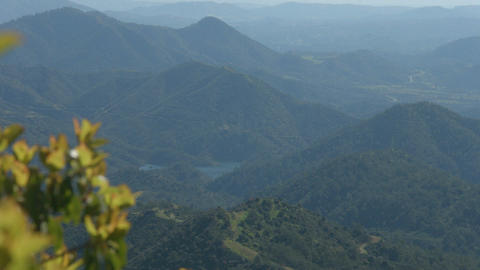 Amazing view of green mountain hills. Natural environment. Tourist destination Footage