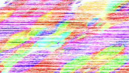 Distorted Rainbow Rgb Noise With Colored Painted Spots Animation