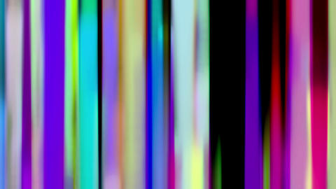 Flowing Down Curtain Of Rainbow Color Liquid Lines Animation