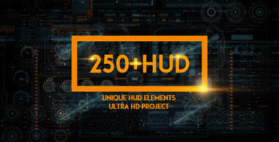 250 HUD SCI-FI Elements After Effects Project