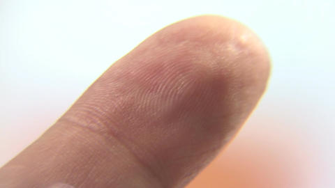 Fingerprints Lines Closeup Footage