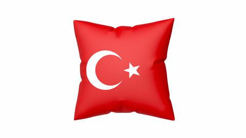 Turkish flag on pillow Animation