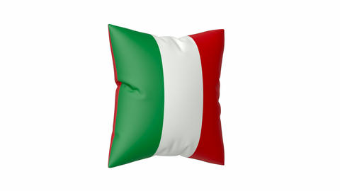 Pillow with the flag of Italy Animation