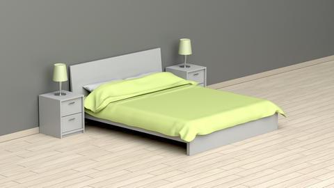 Modern bedroom Animation
