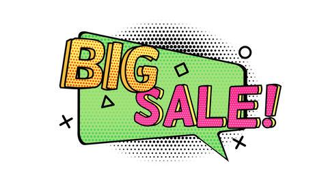 Sticker Big Sale on alpha channel GIF