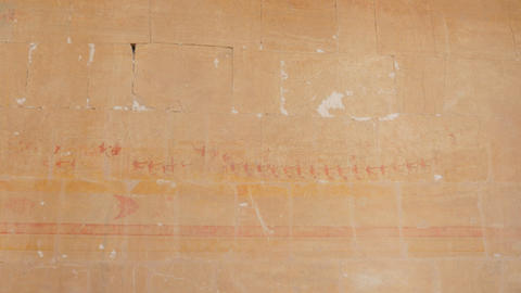 Colorful Images of Pharaohs Are Depicted on The Wall Live Action