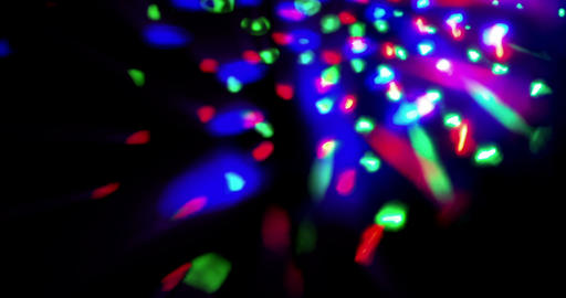 flashing shiny multicolor stage lights circular movement entertainment disco dance, spotlight Live Action