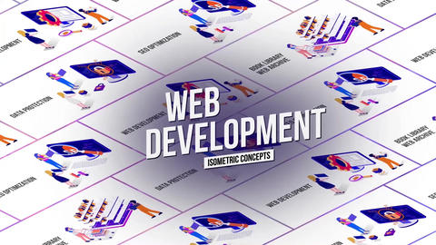 Web development isometric concept After Effectsテンプレート