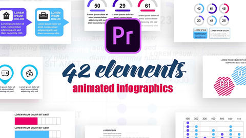 Infographics MOGRT vol.6 Motion Graphics Template