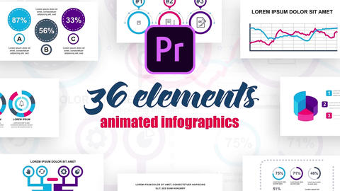 Infographics MOGRT vol.4 Motion Graphics Template